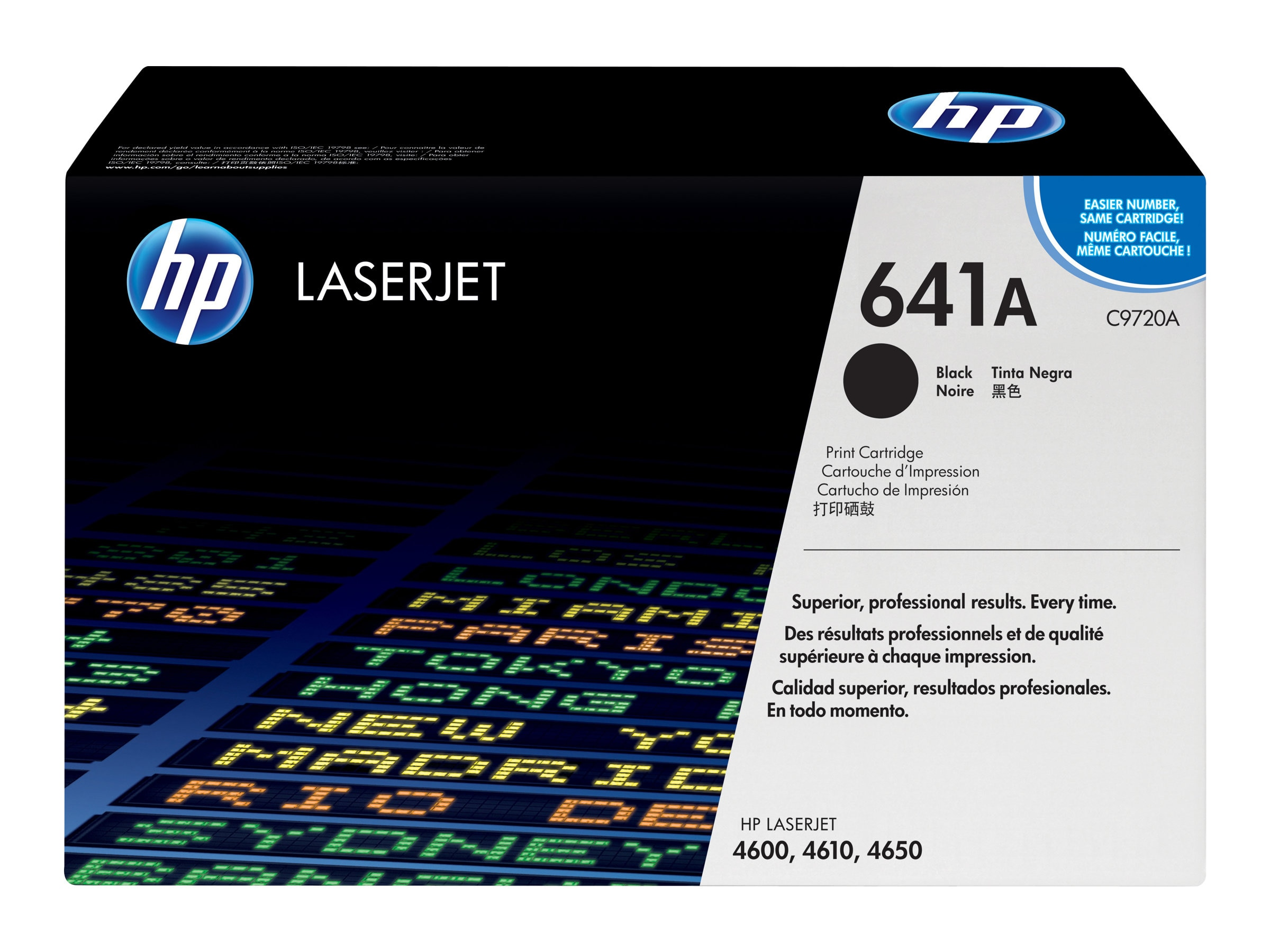 HP 641A (C9720A) Black Original LaserJet Toner Cartridge for HP LaserJet 4600 & 4650 Series
