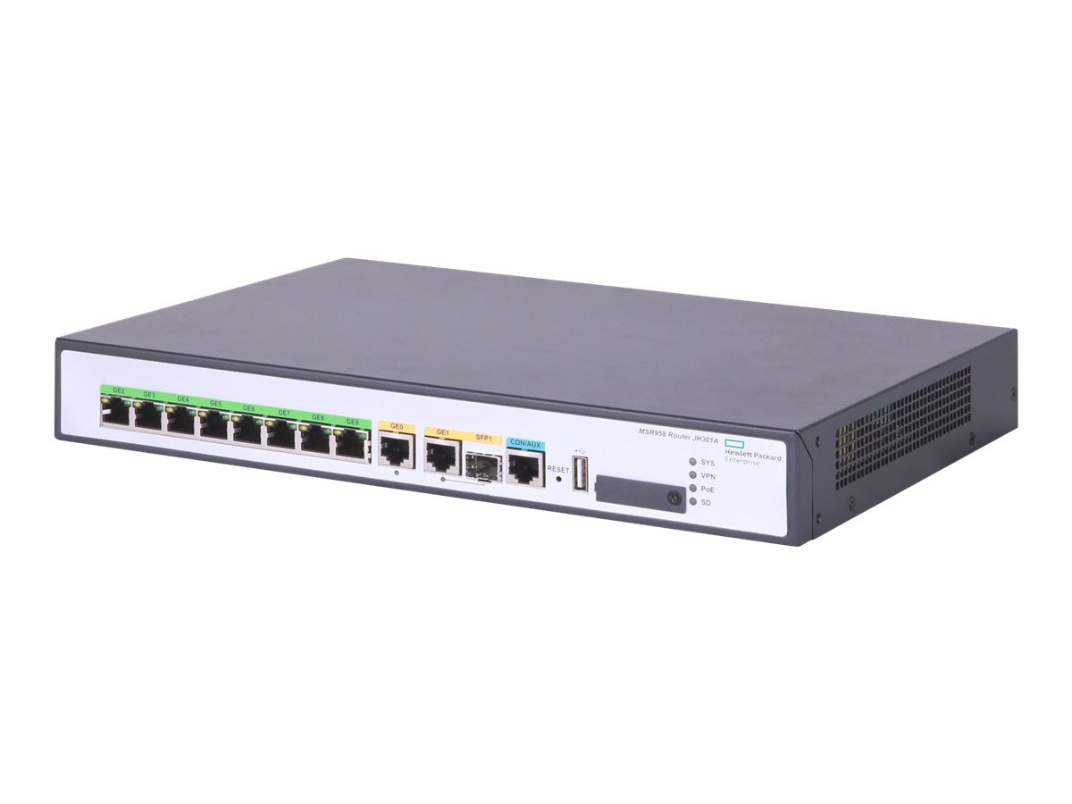 HPE MSR958 1GE Combo PoE Router (US, English Localization)