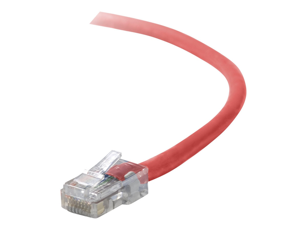 Belkin Cat5e Non-Booted UTP Crossover Cable, Red, 10ft, A3X126-10-RED, 207767, Cables