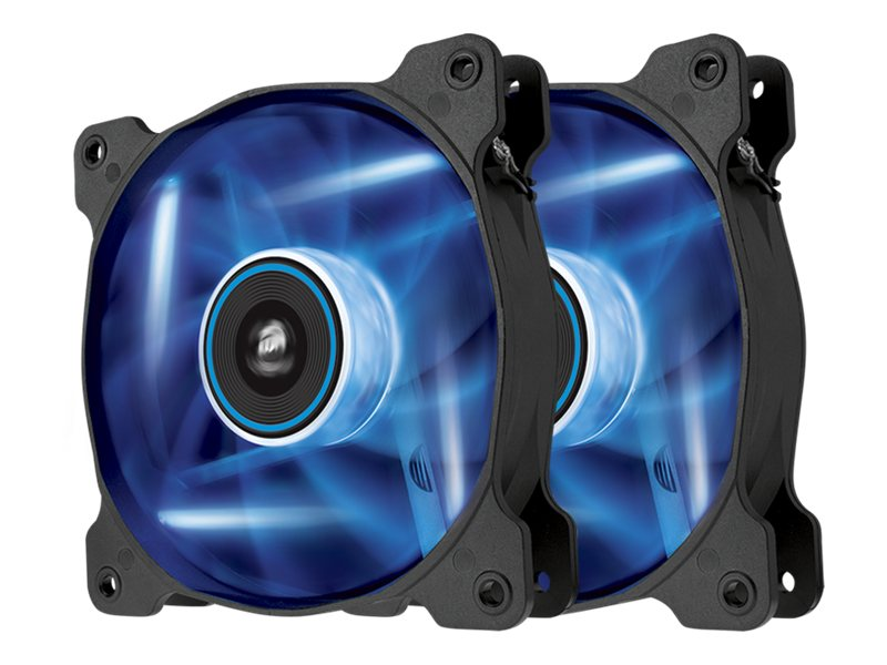 Corsair Air Series AF120 Case Fan Quiet Edition Blue LED, Twin Pack, CO-9050016-BLED, 16375069, Cooling Systems/Fans