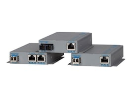 Omnitron OmniConverter GPOESE 1X10 100  1000T-1000BASE-X SFP 100-240 US, 9479-0-11, 16150151, Network Transceivers