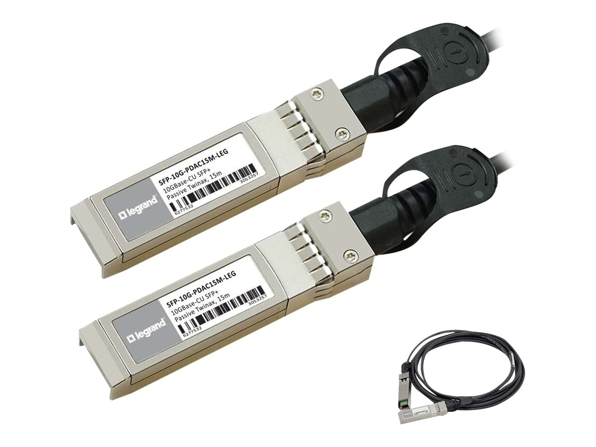 C2G 10GBASE-CU SFP+ to SFP+ Direct Attach Passive Twinax Cable, 15m, MSA and TAA Compliant