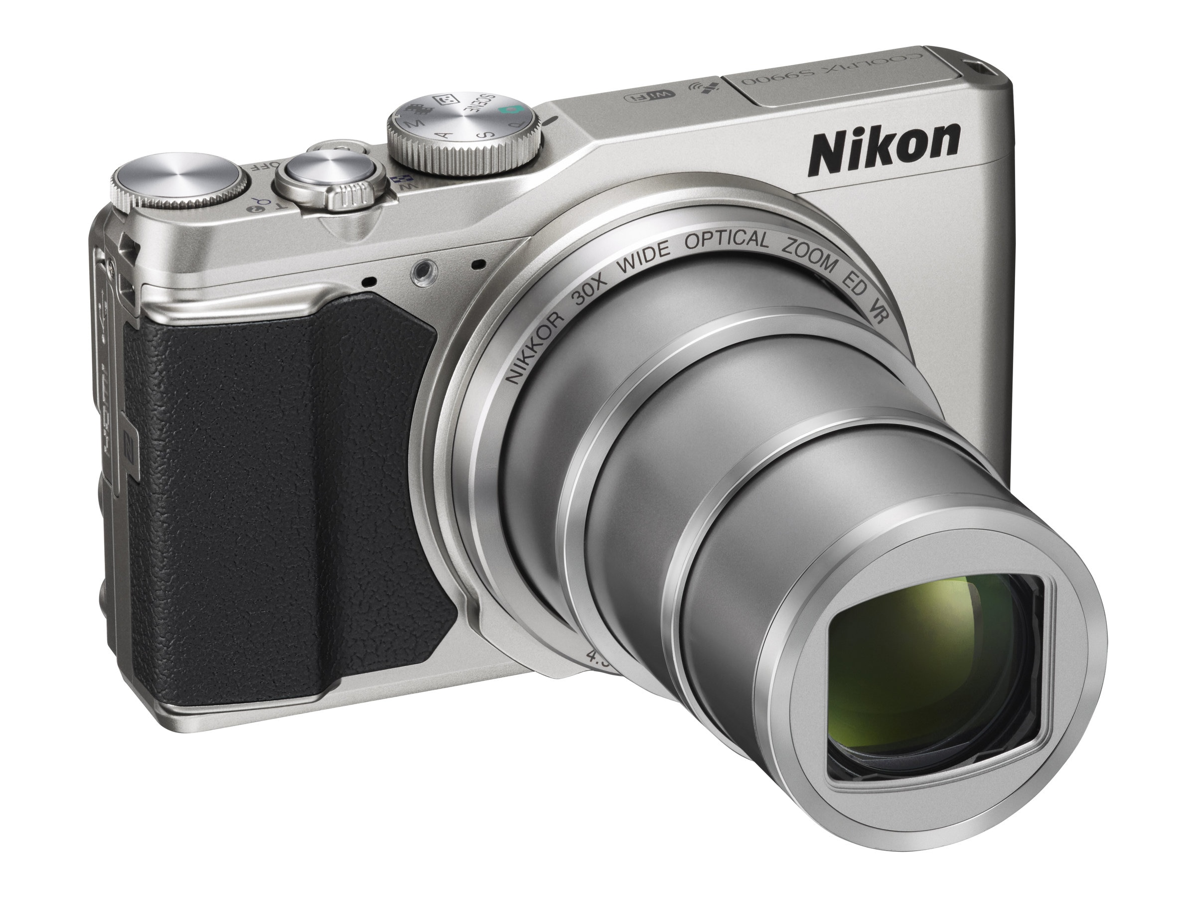 Nikon COOLPIX S9900 Digital Camera, Silver, 26498