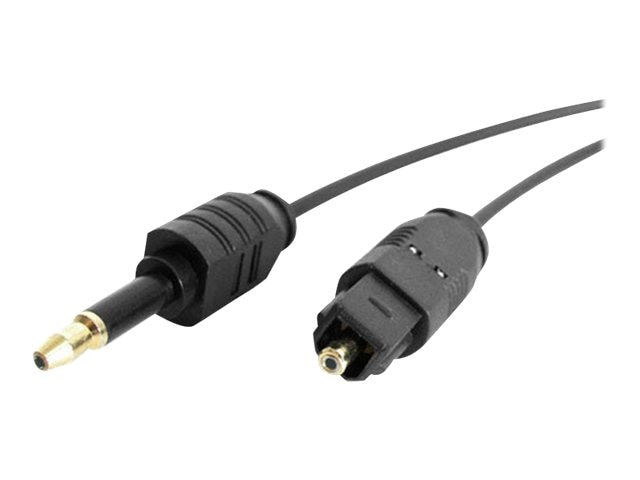 StarTech.com Digital Audio Cable, Toslink to Miniplug, 6ft, THINTOSMIN6, 4919381, Cables