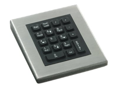 iKEY Rugged 18-key Numeric Pad Stainless Steel Case PS 2 Cable