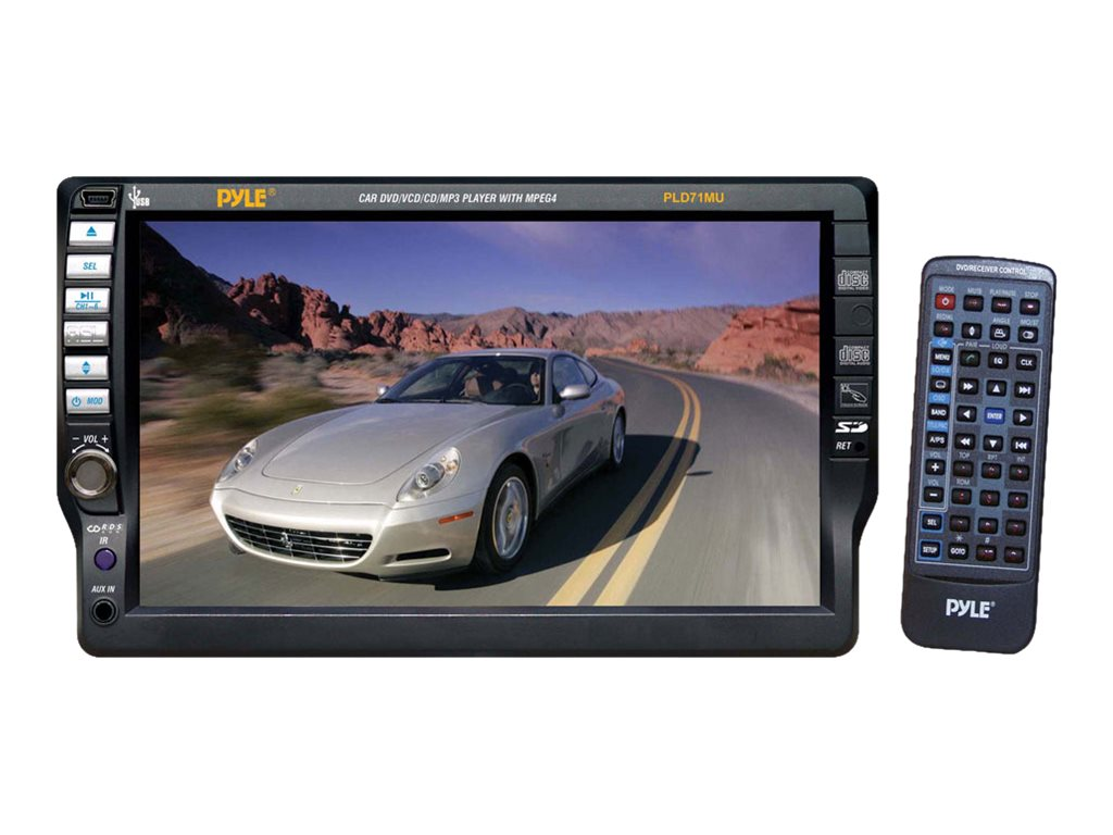 Pyle DVD CD MP3 CD-R USB AM FM 7 TFT Touch Screen Receiver, PLD71MU, 17436100, Stereo Components