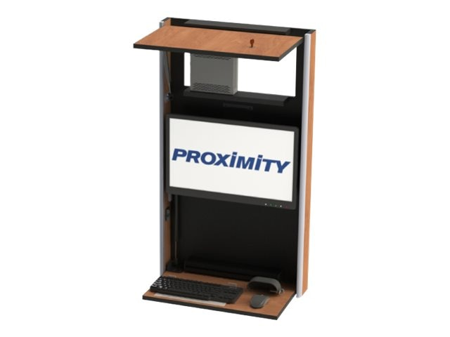 Proximity Embrace Series Slim Wall-Mounted Workstation, Wild Cherry, EXT-6019-7054