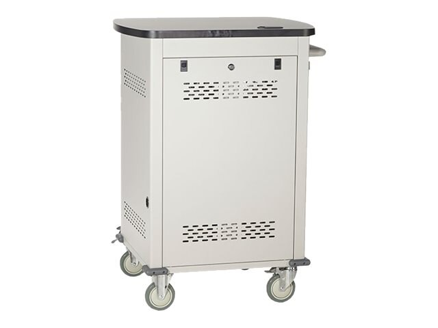 Black Box 30-Unit Tablet iPad Charging Cart with Hinged, Locking Door, UCCSS30H