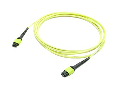 ACP-EP OS1 Fiber Patch Cable, MPO-MPO, 9 125, Single-Mode, Duplex, Yellow, 20m, ADD-MPOMPO-20M9SMS