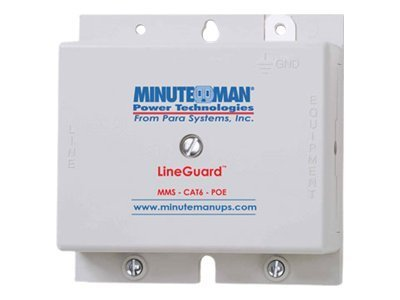 Minuteman LineGuard Data Line Surge Suppressor for Cat6 LAN PoE, MMS-CAT6-POE, 10908776, Surge Suppressors