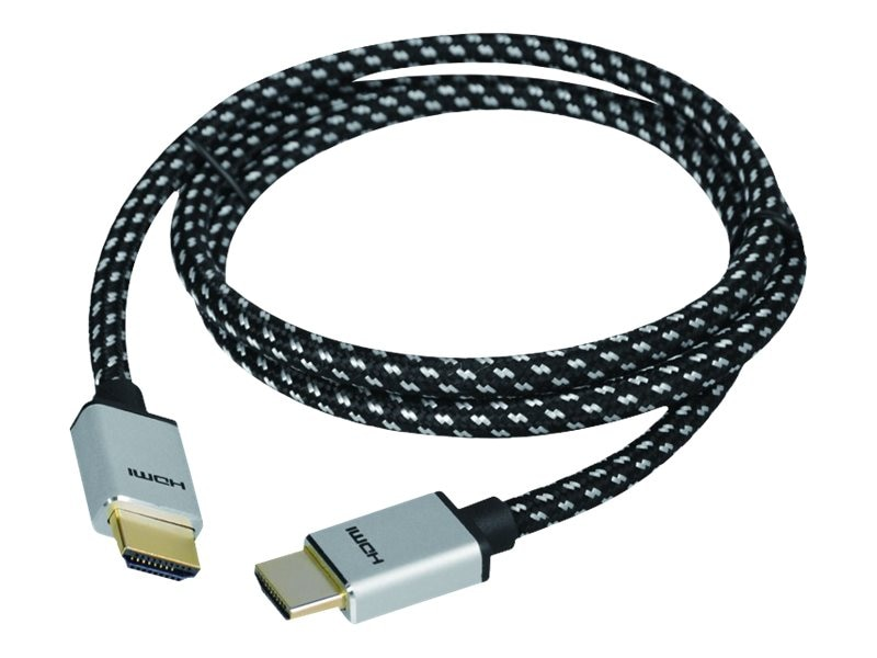 Siig Woven Braided High Speed HDMI M M Cable, 2m, CB-H20F12-S1