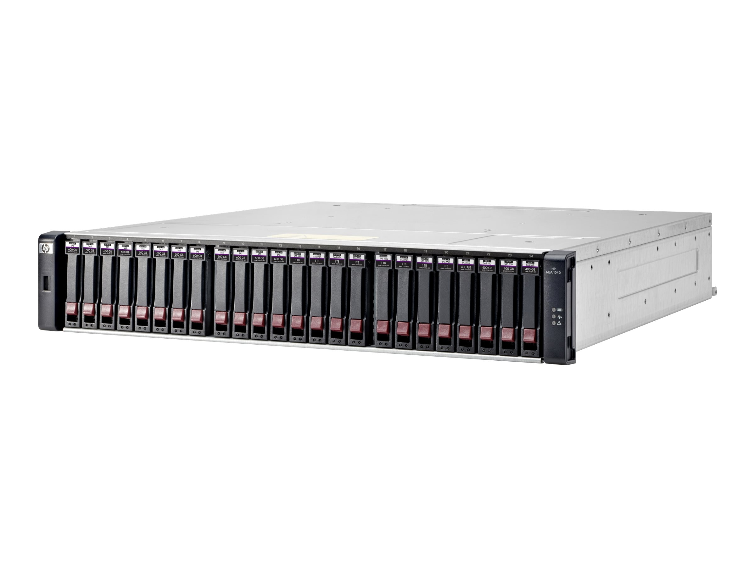 HPE MSA 1040 1Gb iSCSI Storage Array Bundle w  (12) 900GB SAS 10K RPM SFF Hard Drives (Smart Buy), K2Q06SB, 17784622, SAN Servers & Arrays