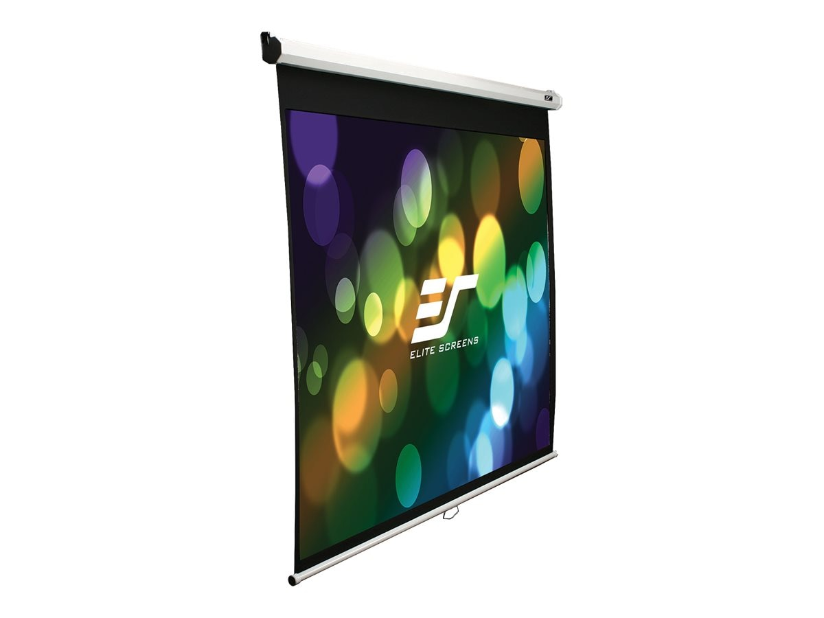 Elite Slow-Retract Manual Projection Screen, MaxWhite, 1:1, 85, M85XWS1-SRM, 11204148, Projector Screens