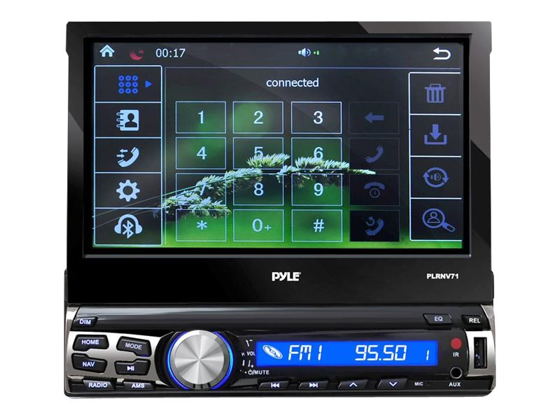 Pyle 7 BT & GPS Navigation Head Unit Reveiver w  Mic for Call, PLRNV71