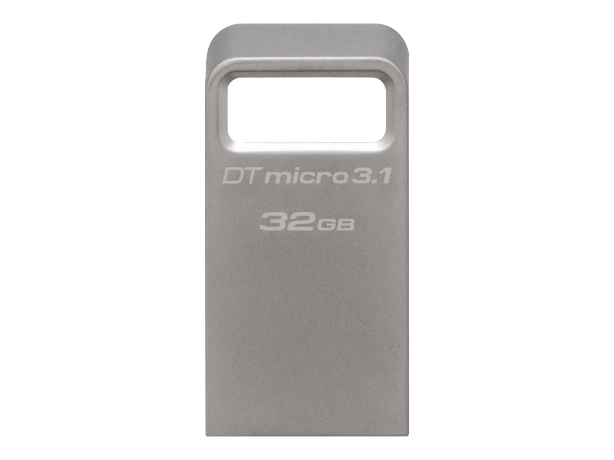 Kingston 32GB DataTraveler Micro 3.1 USB 3.1 Flash Drive, DTMC3/32GB, 23307101, Flash Drives