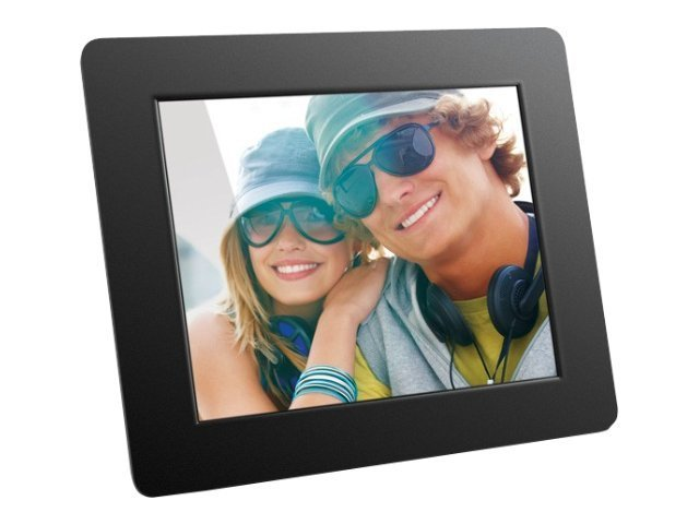 Aluratek Hi-Resolution Digital Photo Frame, 8in, ADPF08SF, 12054401, Digital Picture Frames