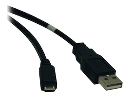 Tripp Lite USB 2.0 Digital Device Cable, USB Type A to MicroUSB (M-M), 3ft, U050-003, 9266606, Cables