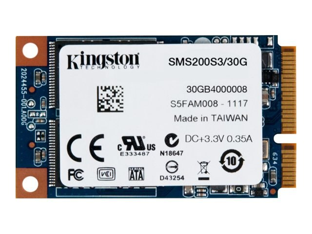 Kingston 30GB SSDNow mS200 mSATA 6Gb s Internal Solid State Drive