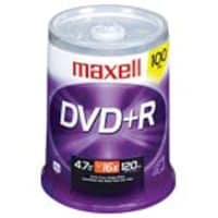 Maxell 16x 4.7GB DVD+R Media (100-pack Spindle), 639016, 6485205, DVD Media