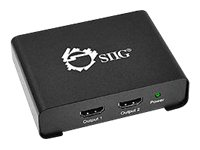 Siig 1x2 HDMI Splitter with 3D and 4Kx2K, CE-H21P11-S1, 16351438, Video Extenders & Splitters