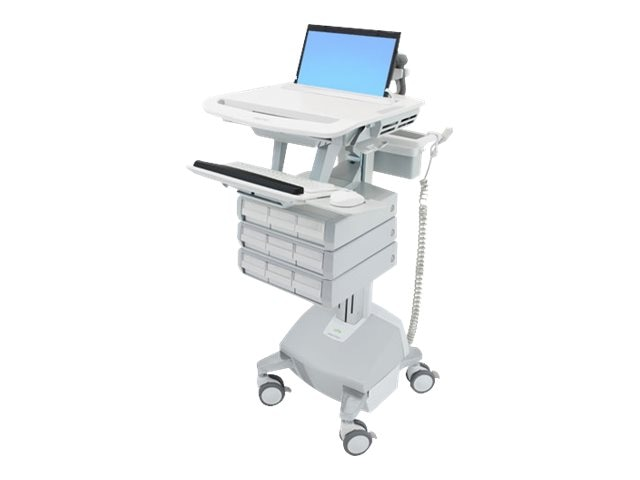 Ergotron StyleView Laptop Cart, LiFe Powered, 9 Drawers, SV44-1192-1, 18024861, Computer Carts - Medical