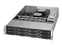 Supermicro SuperChassis 826BE16 2U RM (2x)Intel AMD 12x3.5 HS Bays 7xPCI 920W RPS