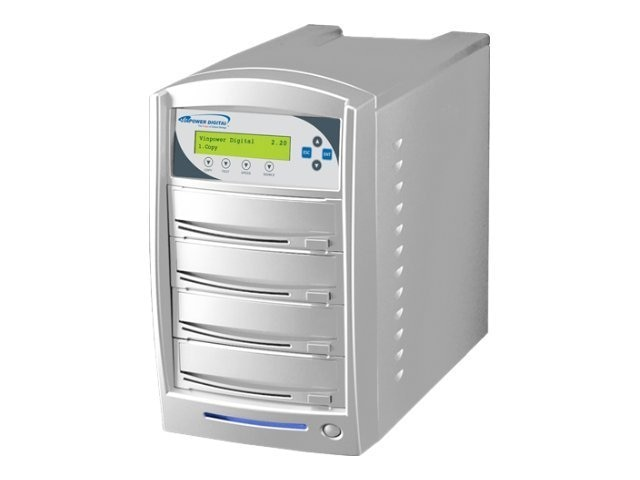 Vinpower SharkNet DVD CD USB 1:3 Network Tower Duplicator w  Hard Drive