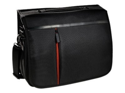 Eco Style Luxe Messenger Case, Fits 15.6 Notebook, Black, ELUX-MC14, 13932851, Carrying Cases - Notebook