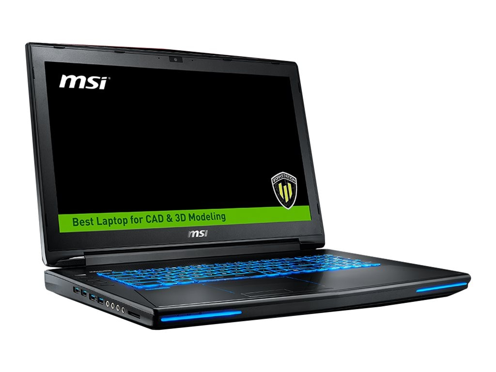 MSI WT72 6QI-654US core i7-6700HQ 2.6GHz 16GB 1TB+128GB ac BT WC M1000M 17.3 FHD W10P, WT72 6QI-654US, 31388546, Workstations - Mobile