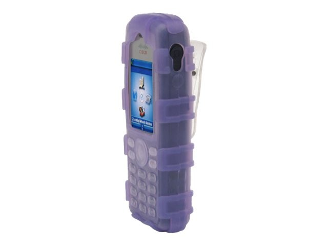 Zcover Silicone Ruggedized Dock-in-Case for Cisco 7925G 7925G-EX, Purple, CI925HQU