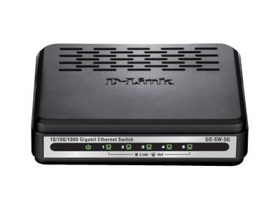 D-Link 5-Port Unmanaged Gigabit Switch, GO-SW-5GE