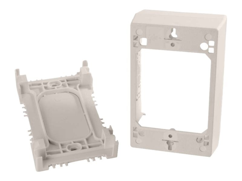 C2G Wiremold Uniduct Single Gang Deep Junction Box, Fog White, 16133, 23623702, Premise Wiring Equipment