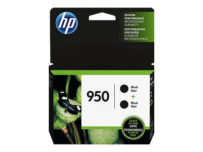 HP 950 (L0S28AN) Black Original Ink Cartridges (2-pack), L0S28AN#140, 20794101, Ink Cartridges & Ink Refill Kits
