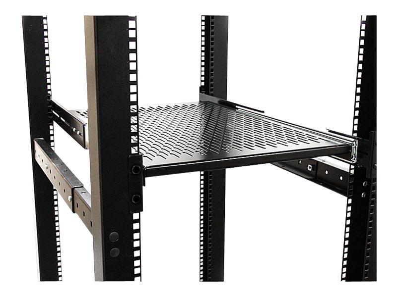 StarTech.com 19 Vented Adjustable Depth Sliding Server Rack Cabinet Shelf, UNISLDSHF19, 11126063, Rack Mount Accessories