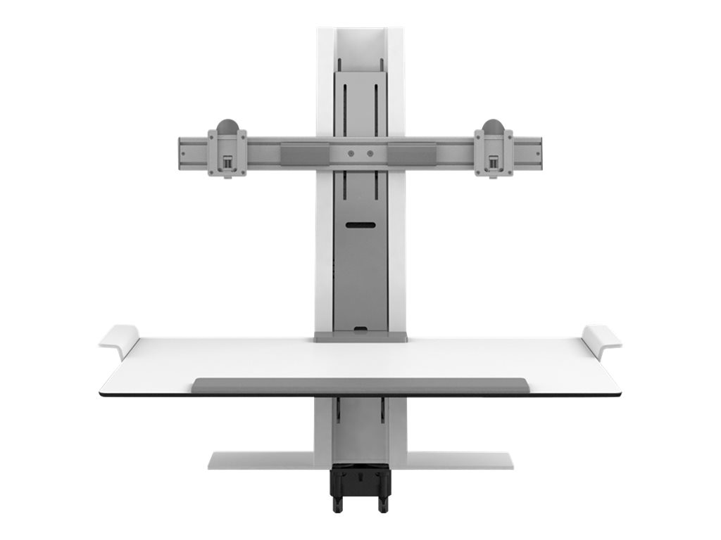 Humanscale QuickStand with Dual Display Support, Clamp Mount, 24 Crossbar, QSWC30CNN