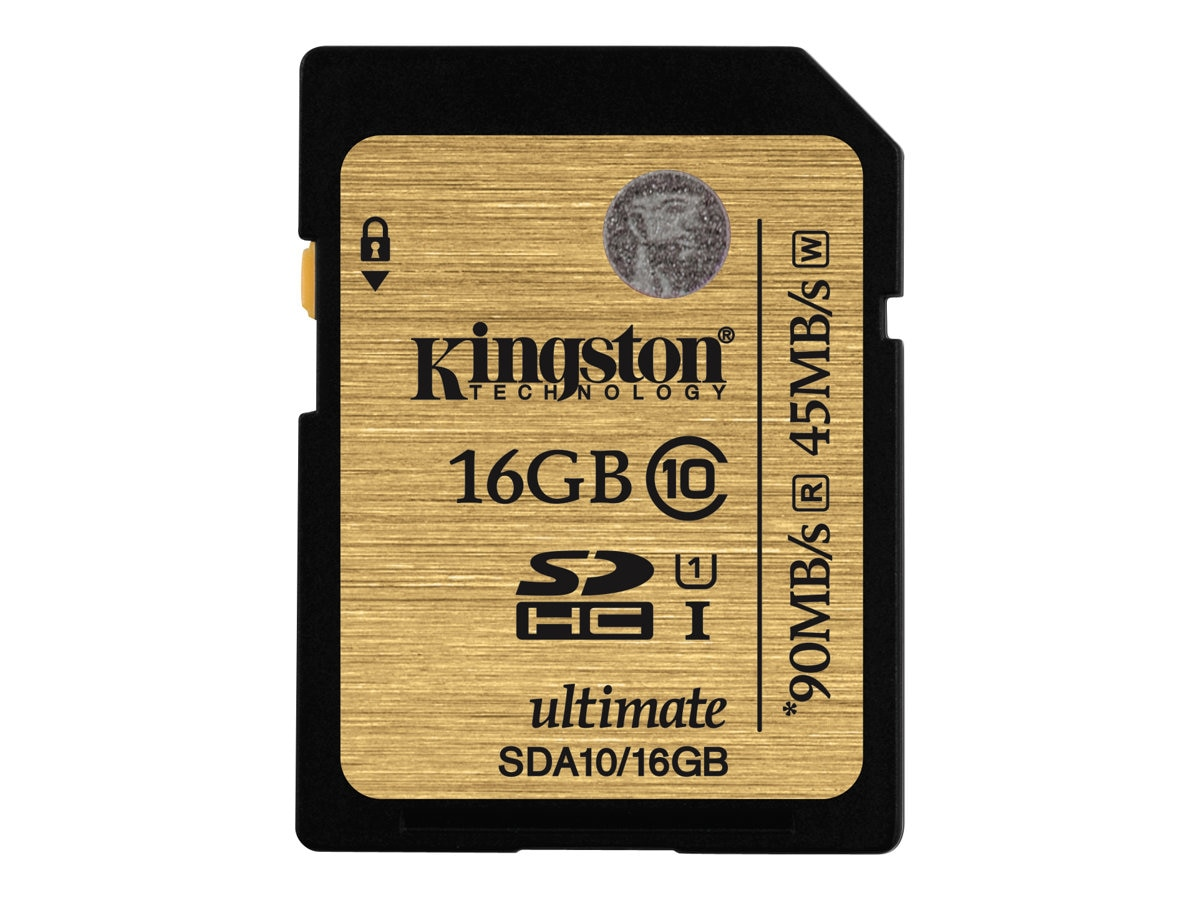 Kingston 16GB SDHC Flash Memory Card, Class 10