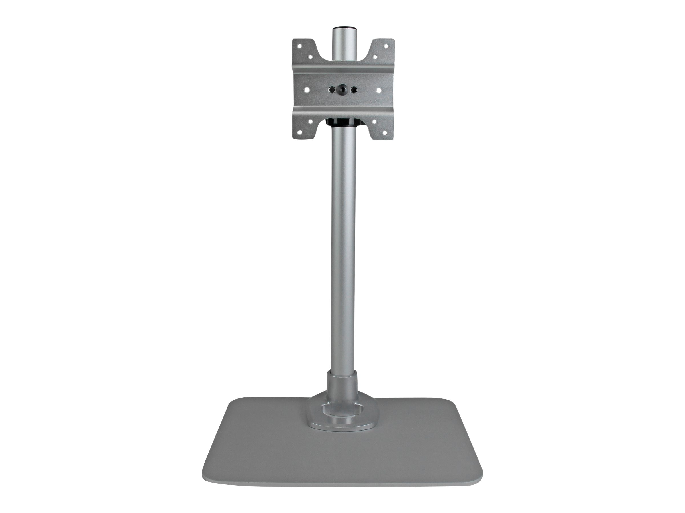 StarTech.com Desktop Monitor Stand with Cable Hook, Silver, ARMPIVSTND
