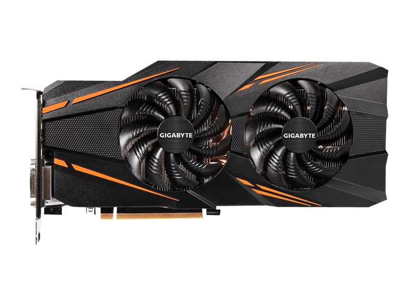 Gigabyte Tech Geforce GTX 1070 PCIe 3.0 x16 Graphics Card, 8GB GDDR5, GV-N1070WF2OC-8GD