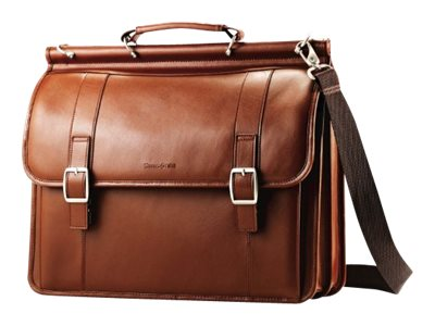 Stephen Gould 15.6 Dowel Flapover Tan Leather, 53228-1847, 15987098, Carrying Cases - Other
