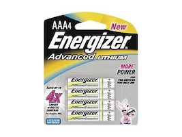 Energizer Battery, Advanced Lithium AAA (4-pack), EA92BP-4, 9556224, Batteries - Other