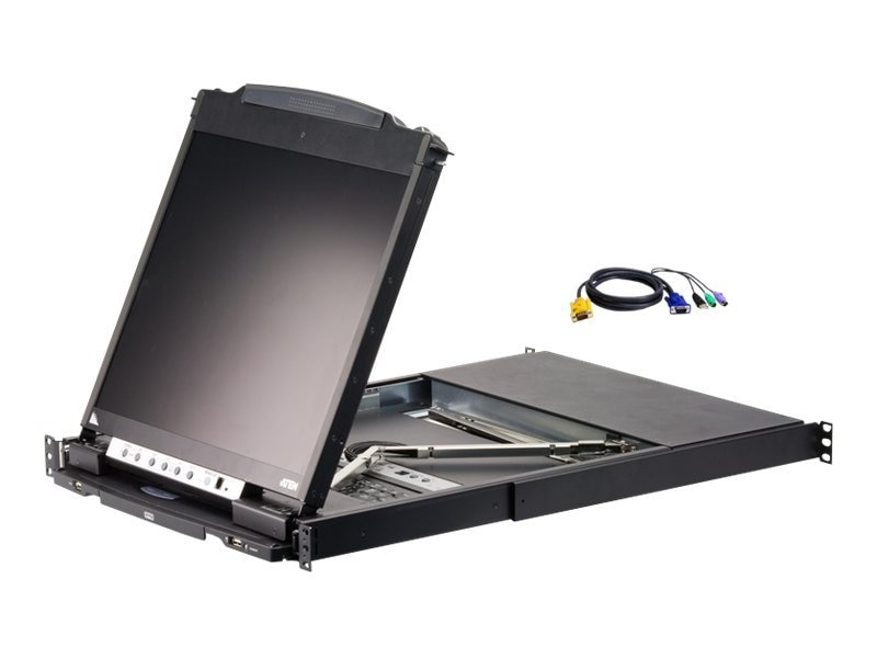 Aten 16-Port LCD KVM with 16 USB-PS 2 Combo Cables