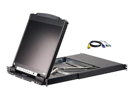 Aten 16-Port LCD KVM with 16 USB-PS 2 Combo Cables, CL5816NCKIT, 13080249, KVM Displays & Accessories
