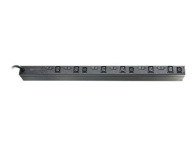 APC Basic Rack PDU 22kW 400V In 208V Out 0U IEC 309 32A 3P+N+PE Input 6ft Cord (6) C19 (3) C13 Outlets, AP7555A, 16880330, Power Distribution Units
