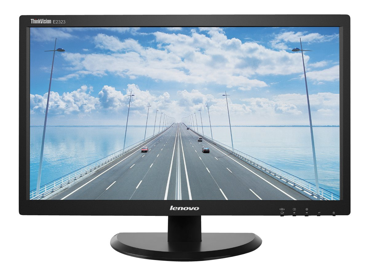 Lenovo 23 E2323 Full HD LED-LCD Monitor, Black, 60B0HAR1US, 16772398, Monitors - LED-LCD