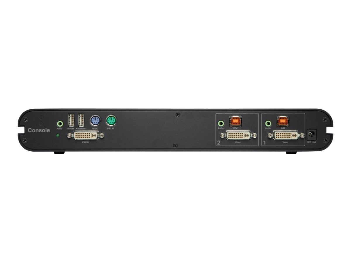 Belkin OmniView Secure 2-Port DVI-I KVM with Audio, F1DN102B