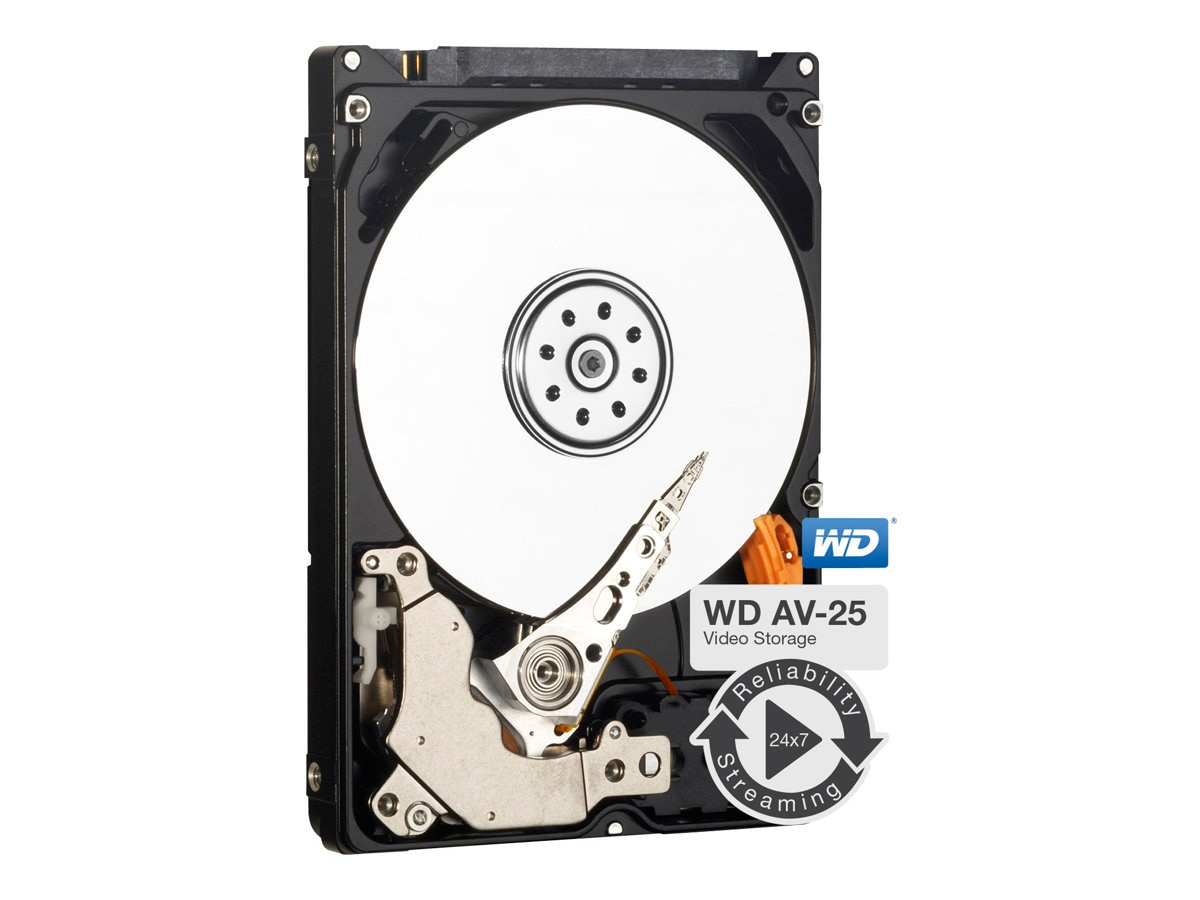 WD 500GB AV-25 SATA 3Gb s 2.5 Slim Internal Hard Drive - 16MB Cache