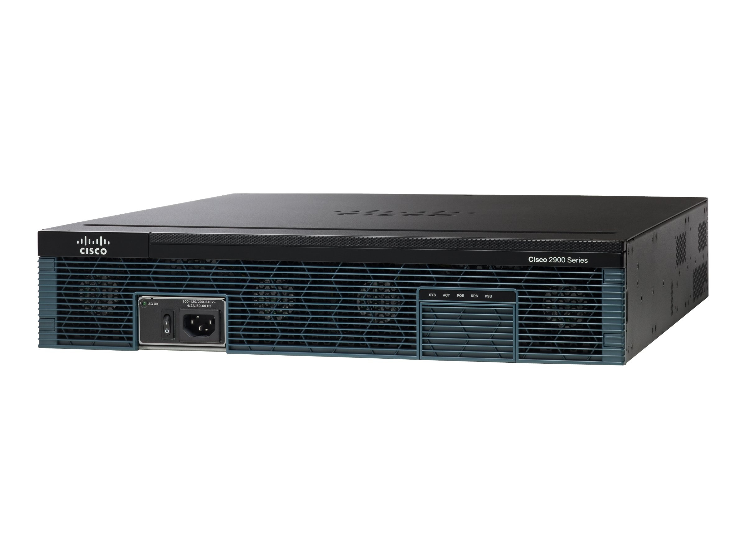 Cisco 2921 w  3 GE 4 EHWIC3 DSP1-256MB CF 512MB DRAM IPB, CISCO2921/K9, 10696671, Network Routers