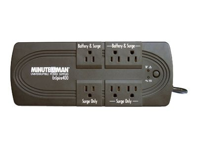 Minuteman EnSpire Standby UPS 600VA 300W, USB Port, (6) 5-15R Outlets, EN600, 7361773, Battery Backup/UPS