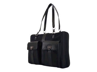 Mobile Edge London Microfiber Tote, Black, Fits 15 and 15.4 Notebook Screens