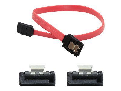 ACP-EP Latching SATA to SATA F F Cable, Red, 0.5ft, 5-Pack, SATAFF6IN-5PK